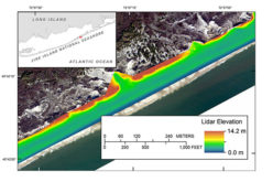 Terrestrial-based Lidar Beach Topography of Fire Island, New York