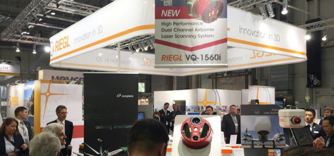 RIEGL Debuted the New miniVUX-1UAV and the New VQ-1560i at INTERGEO and Announced Launch Customers