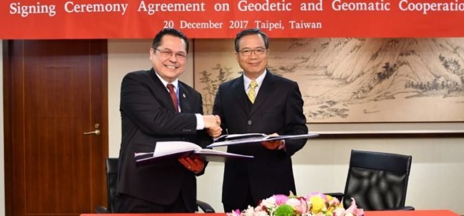 Taiwan and Indonesia Signed Pact on Cooperation in Geodesy and Geomatics