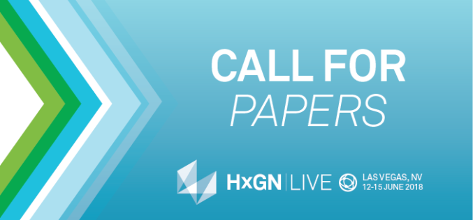 Call for Geospatial Papers: Share Your Story at HxGN LIVE 2018