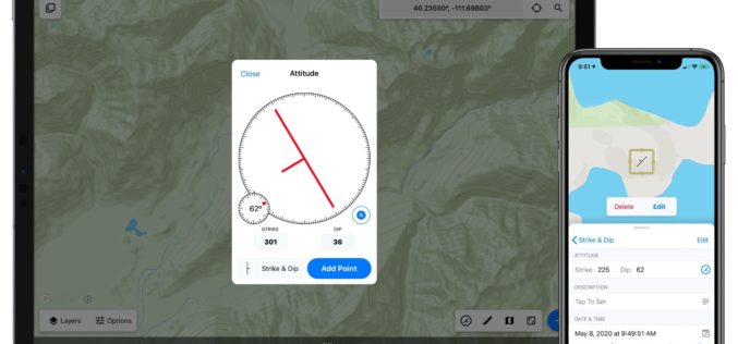 Touch GIS App Introduces Digital Clinometer Tool for Geologist
