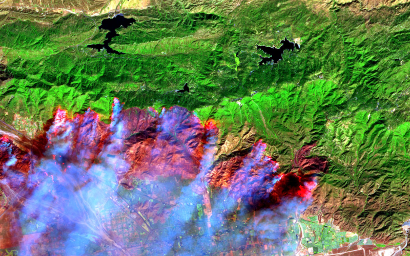 Satellite Images Reveals 2,500 hectares Forest Lost in Fire