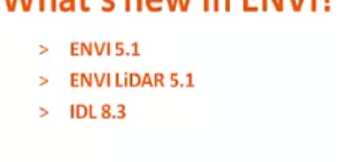 What's New in ENVI 5.1