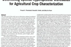 Evaluation of Narrowband and  Broadband Vegetation Indices for  Determining Optimal Hyperspectral Wavebands  for Agricultural Crop Characterization