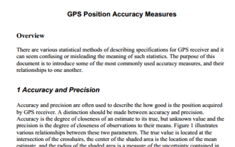GPS Position Accuracy Measures By NovAtel