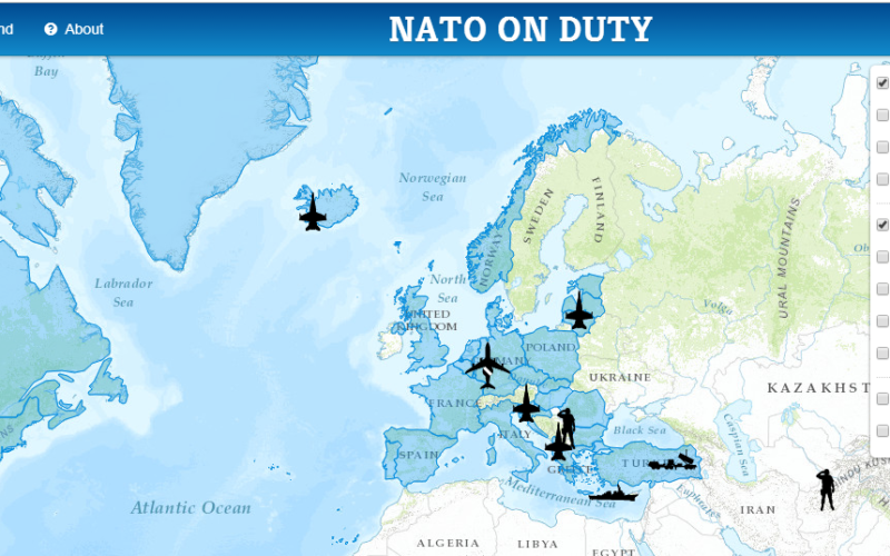 NATO HQ Launches Interactive Web Map Based on Esri Technology