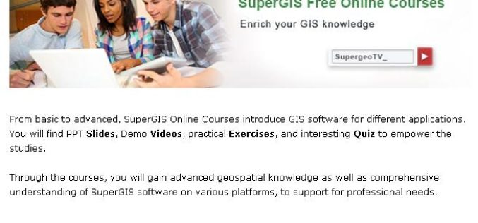 No-Cost Online GIS Courses on SupergeoTV to Enrich Geospatial Knowledge