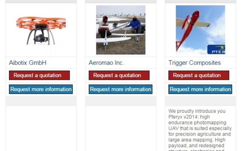 The 5most viewed UAVs for Mapping and 3D Modelling on Geo-matching.com