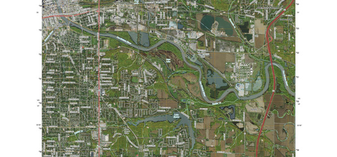 Updated US Topo maps for Iowa and Kansas released; add Census Bureau road data and PLSS
