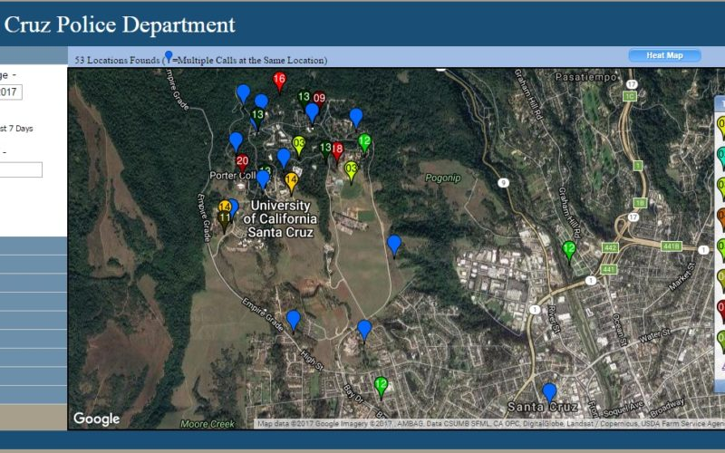UC Santa Cruz Police Department has Launched Crime Mapping Website