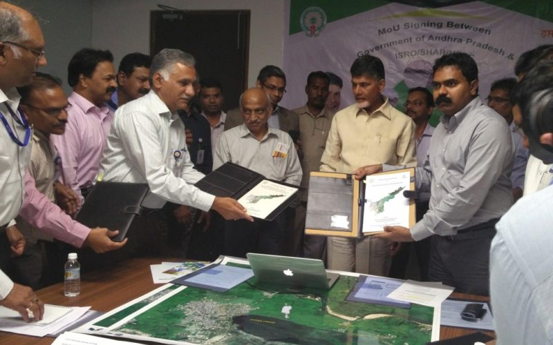 ISRO signs Three MoUs with Government of Andhra Pradesh for use of Geospatial Technology