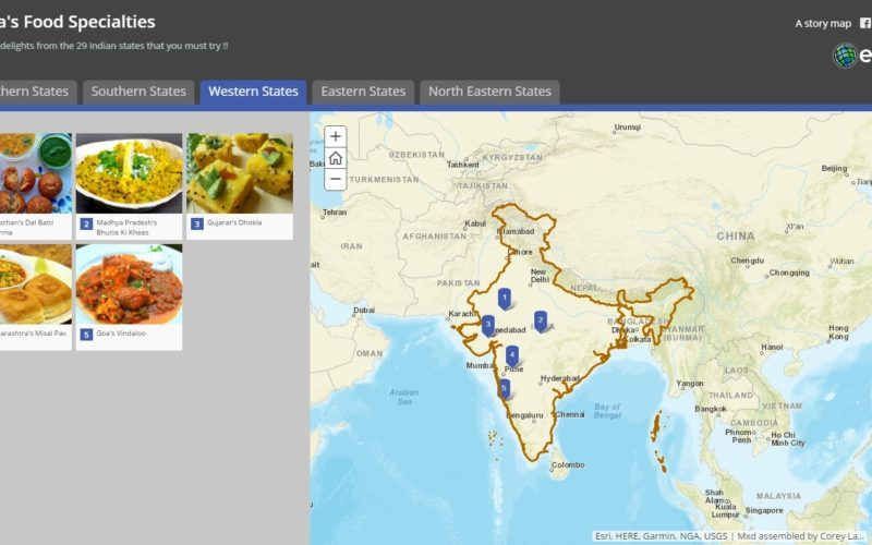 Story Map – Food Specialties of India