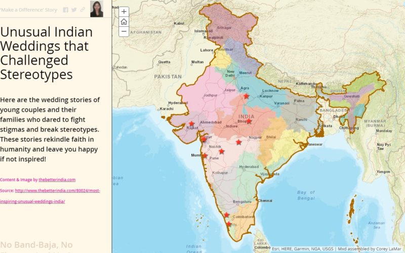 Esri Story Map: Unusual Indian Weddings that Challenged Stereotypes