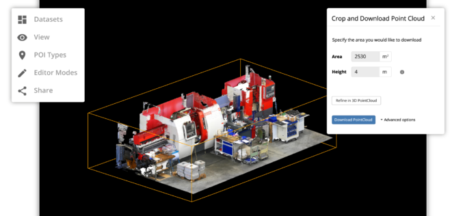 Select and Download Sections of Large Point Clouds Right in Your Browser with NavVis IndoorViewer 2.5