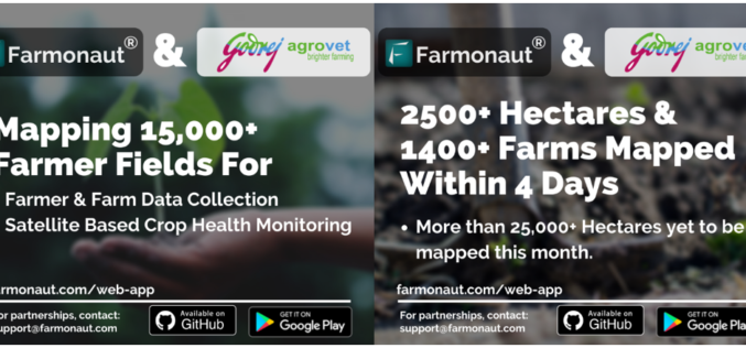 Farmonaut to Provide Its Services to Godrej Agrovet in Mapping 15000+ Farmer Fields