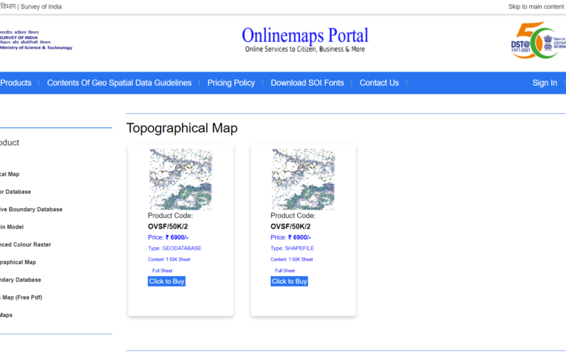 Onlinemaps Portal, SARTHI, and MANCHITRAN – Launch of 3 Online Applications to Purchase Geospatial Data Collected by Govt. Organizations